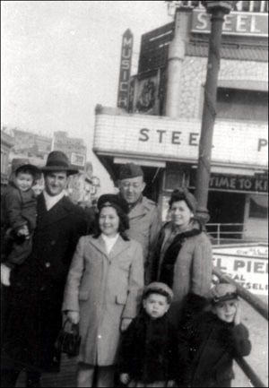 Libby Lee, Eddie, Barry, Mollie, Herman, Lou and Sharon, in Atlantic City